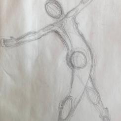 Élan, mise de plomb sur papier, 15x22cm. 2016